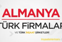 Almanya'da İş Yapan Firmalar ve Türk İnşaat Şirketleri